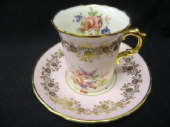 Beautiful HAMMERSLEY espresso coffee can/ cup & saucer -PINK